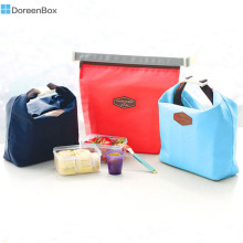 Doreen Box Rectangle Nylon Picnic Lunch Bags for Kids Working School Thermal Cooler Insulated,36x29cm, 1PC
