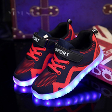 Eur25-37 // Children Shoes Light Led luminous Shoes Glowing Sneakers Boys Girls USB Charging Sport Shoes Casual Led Shoes Kids