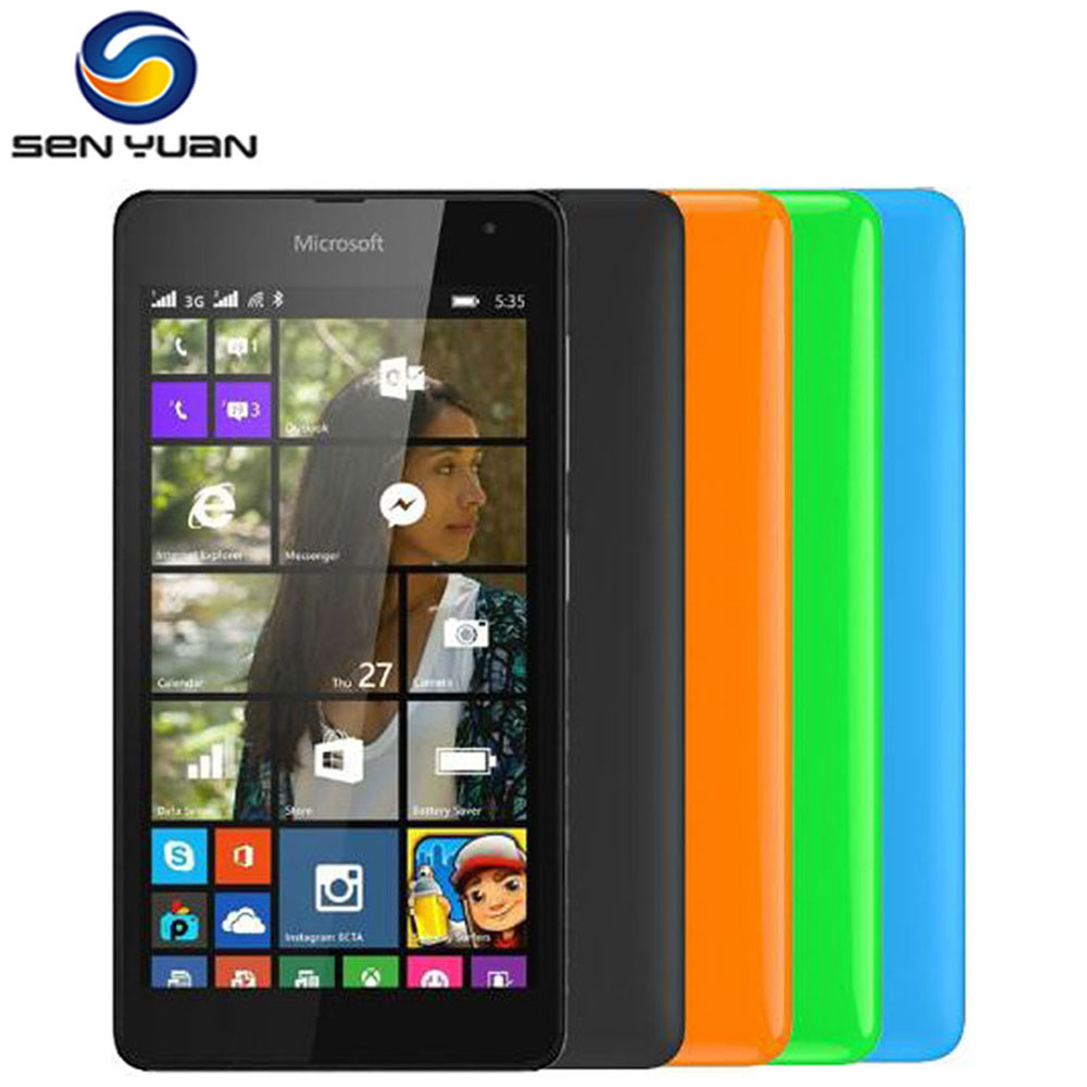 Microsoft lumia 535 dual sim white quad core 1 2ghz unlocked cell - Original Nokia Lumia 535 Cell Phones Quad Core Dual Sim Unlocked Mobile Phone 5 0 Touch