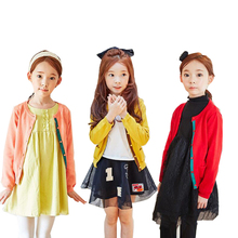 2016 New Sale Winter Girls' Sweaters Autumn Spring Knitting Cardigan Quality Cotton Sweater Korean Style Children's Sweaters3-15