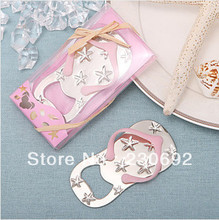 Wholesale Flip flop wine bottle opener with starfish design 50PCS/LOT wedding favor guest gift()