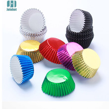 100 pcs/lot Pure Color Gold sliver green blue Foil  Paper Cupcake Liners Cupcake wrappers Cake Decorating Tools Baking Cups