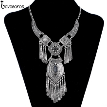 LOVBEAFAS 2017 Fashion Bohemian Choker Collar Necklace Vintage Tassel Statement Maxi Long Women Collier Femme Jewelry - JEWELLERY Store store