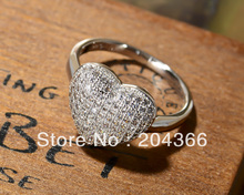 New promotion Wholesale 1pc Fashion 925 Silver Micro pave Zircon Jewelry Ring GWJ020, size 7