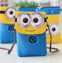 M666 Cute  Specific Character  Funny  Yellow People Soft Messenger Bags Messenger Bag Small Size Girl Gift Wholesale