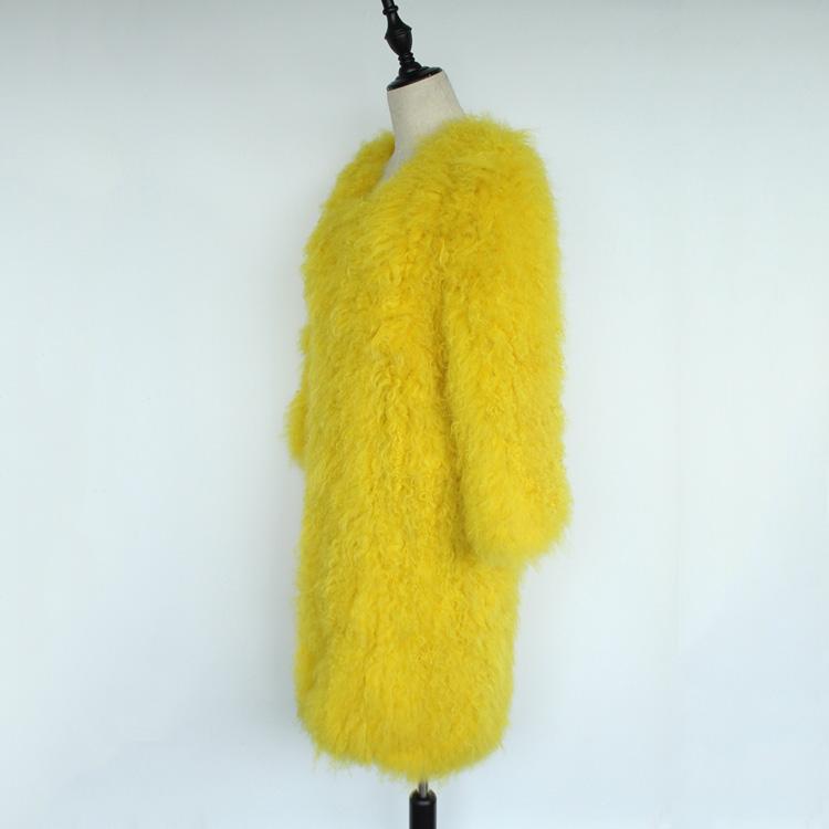 women natural lamb sheep fur coat (11)