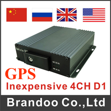 4CH D1 Car Blackbox Mobile DVR For Car Truck Taxi With GPS Function
