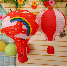 30Pcs/lot 12inch Rainbow Hot Air Balloon Paper Lantern Fire Sky Lantern for Wedding/Birthday Party/Christmas Decoration(China)