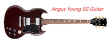 Wholesale and Retail Angus Young SG Guitar AC/DC Inlaids Rosewood Fretboard China Guitar & Music Instruments(China)