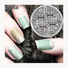 YZWLE factory price retail 2016 designs template professional stamping stainless steel image plates for diy nail art