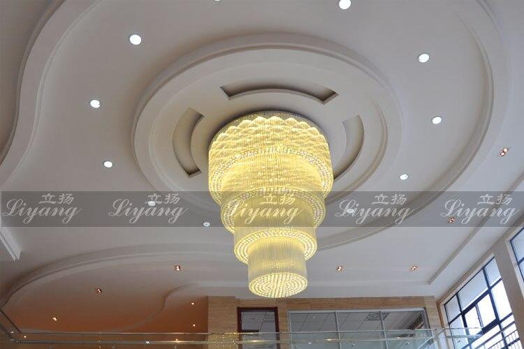 Villa soggiorno doppio luci led di cristallo lampadari hotel lobby