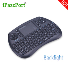 ipazzport 2017 New Mini Wireless Bluetooth gaming Keyboard backlight Air Mouse BT4.0 for tablet game Android/Google TV BOX ipad
