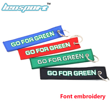 LA racing-New Bride JDM keychain For Honda keychain Go For Green Car Tuning Font embroidery 15CM length(China)