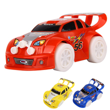 Kid's Toy Christmas Electronic Toys Automatic Steering Flashing Music Racing Car Electric Universal Baby Toy Brinquedos Car(China)