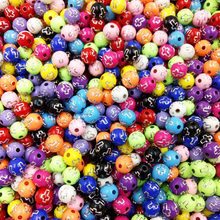 LNRRABC About 100 piece/lot 8mm Cross Round Shape Shiny Acrylic Spacer Charm Loose Beads For DIY Bracelets Jewelry Findings