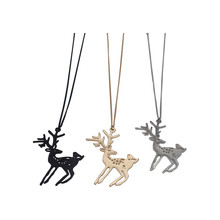 Animal deer fashion jewelry necklace jewelry necklace charm women Fashion girl clothing accessories necklace pendant jewelry gif