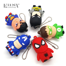 Best Cartoon Pen Drive Batman Avenger Usb Flash Drives Super Man Pendrives 4GB 8GB 16GB 32GB USB 2.0 Memory Stick(China)