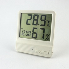 New Indoor Thermometer Hygrometer Alarm clock LCD Digital Display Temperature Humidity Meter 14~158F Weather Station Termometro