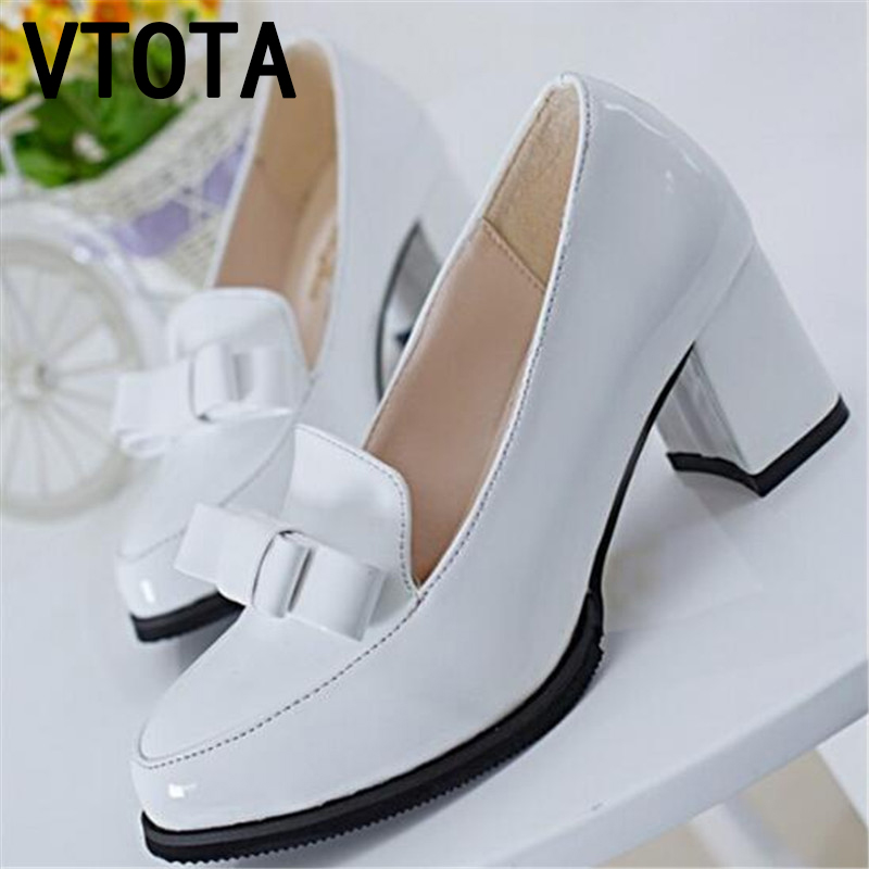 2017 Fashion shoes woman  high heels women shoes platform wedding shoes pumps bowtie shallow mouth block heels shoes X318<br><br>Aliexpress