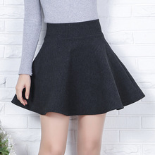 Buy 2017 Autumn & winter Women Wool Line Skirt Korean Fashion Slim Sexy Thick High Waist Pleated Skirt Plus Size Black Mini Skirt for $14.99 in AliExpress store