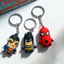New Design The Avengers Toys 1.5''/4cm Spider Man/Batman/Superman/Captain America/Green Lantern Keychain Pendant toy