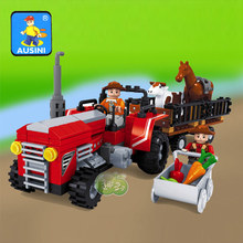 2016 NEW City series Farm tractor model building blocks children's Classic toys Compatible with Legoed(China)