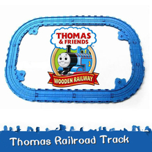 New160CM Thomas and Friends Railway Track Set For Take-n-Play metal diecast trains classic toys Railroad Plastic Slot 12PCS(China)