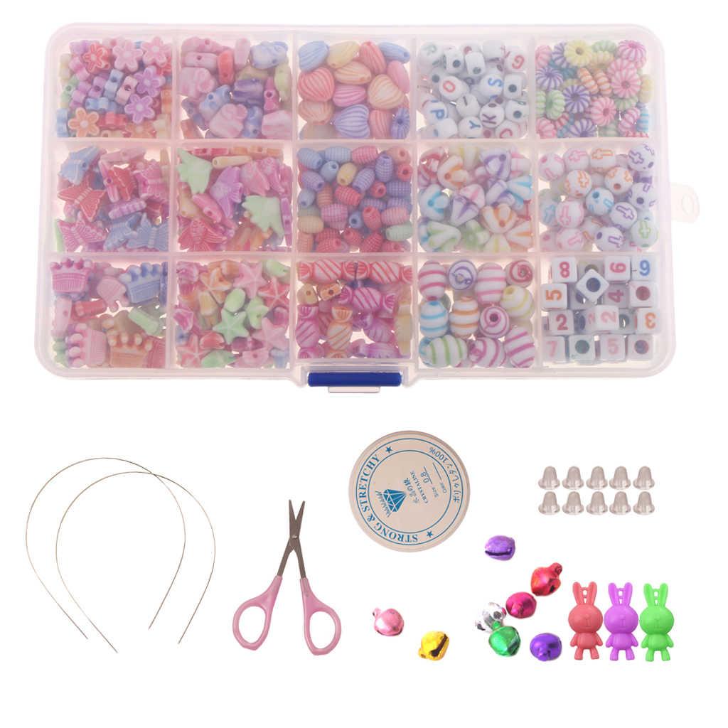 Bracelet Making Kits Bead for Children Necklaces Children DIY Bead Set Bead Necklace Bracelet DIY Bracelets Kit as Beaded Gift Kit for Girls