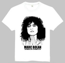 Mens Women Fashion Marc Bolan Printing Short T-Shirt White Marc Bolan Tee Top Shirt