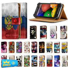 Universal Phone Case For Motorola photon 4g / razr I / Razr M Cover For Motorola Printed Leather Stand Flip Case Small size