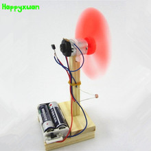 Happyxuan DIY Light Control Fan Model Invented Manual Material Educational Toys Production Science Experiment Sets