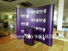 3X3(8X8ft) Custom printing Magnetic Arc Pop up Stand Banner with plastic Trolley Case Table, Backdrop display banner