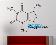 Caffeine Molecule Wall Decal Vinyl Sticker Art Decor Bedroom Design Mural education science educational geek nerd teach