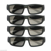Mayitr 4pairs Passive 3D Glasses Black High Quality Polarized IMAX Glasses For 3D Cinema Kid Adult(Hong Kong)