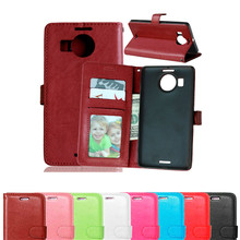 Amazing Case For Microsoft Lumia 950XL Leather Flip Wallet Cover For nokia lumia 950 XL phone case with Card Holder Holster