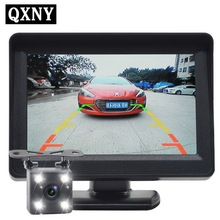 Car Monitor 4.3 inch Reversing image Rear view Parking System Rear view Camera car electronic car detector revere image(China)