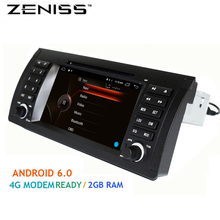 Free shipping 1din 7'' Android 6.0 Car DVD for BMW E53 E39 X5 with 4G Modem 2GB DDR3 1024X600 Bluetooth4.0 TPMS DVR