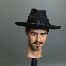 "Tombstone Town Doc Holliday West Cowboys 1/6 Val Kilmer Head Carving For 12"" Action Figure Collection Doll Toys"