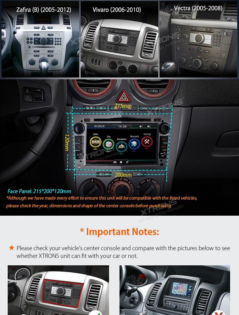 X OPEL CORSA ASTRA XTRONS PDAB71OLO-G AUTORADIO CAR PLAYER NAVI GPS DAB