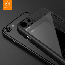 Mcdodo for iPhone 6s Case Ultra Slim TPU+PC for iPhone 7 Case transparent silicon Full Protection Back Cover Phone Cases(China)