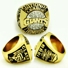 1989 San Francisco Giants National League Championship Ring Replica size 11 Gold Rings For Men