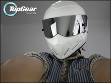 For TopGear The STIG White Helmet with Silver Visor / Top Gear Shop /  For SIMPSON / Carting / Motorcycle / Motorbike / Racing