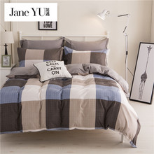 JaneYU brief style bedspread &coverlet  duvet cover geometric Patterns bedding sets 4pcs full/queen/king/superking bedclothes
