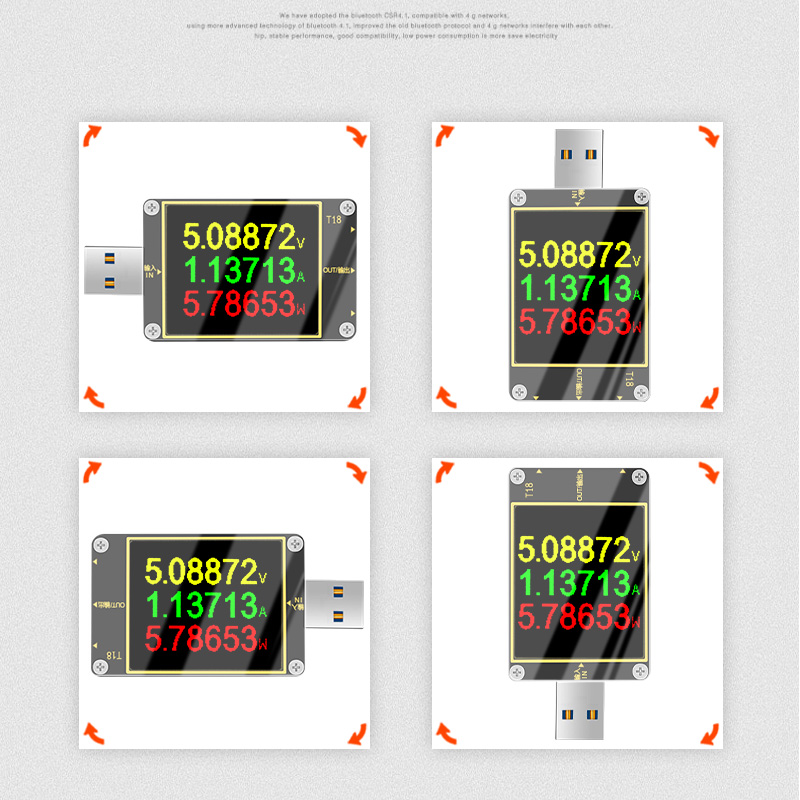 18 in 1 USB tester T18 digital voltmeter ammeter voltimetro dc power volt meter Current voltage doctor 1.8