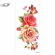 Waterproof Sexy Make Up Body Art Temporary Tattoo Stickers Chinese Orchid Flower Designs Tattoo Decals(China)