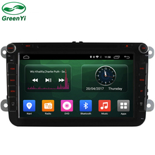 GreenYi Android 6.0 2 DIN Car DVD Stereo PC fit for VW JETTA GOLF MK5 MK6 GTI PASSAT B6 POLO SKODA GPS Navigation Radio Model