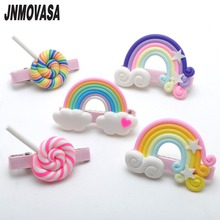 1PC Hair Accessories Hair Clips  Summer Style Fashion Rainbow Lollipop Girls Hair Accessories Clip Hairpin Barrette Gum For Kids