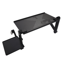 Adjustable Multi Functional Ergonomic mobile laptop table stand for bed Portable sofa folding table foldable notebook Desk(China)