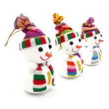 Hoomall 3PCs Random Mixed Christmas Ornaments New Year Decoration Snowman Christmas Tree Hanging Pendent Dolls Navidad Gift Xmas
