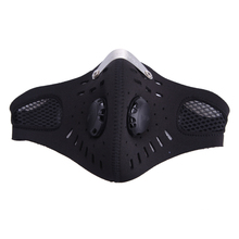 Outdoor Cycling Mask With Filter Half Helmet Face Carbon Mask Dust Mask Anti-pollution Bicycle Bike Training Mask Ciclismo Ski(China)